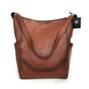 Frye Women's Leather Side Pocket Hobo Shoulder Bag